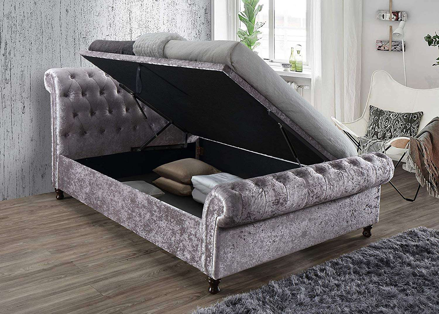 Groovy Sleigh Ottoman Bed Variety Of Colours And Sizes Vary From Double King And Super King Pdpeps Interior Chair Design Pdpepsorg